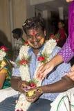 本地治里市,泰米尔纳德邦,印度- 2014年5月11日:puja仪式 免版税库存照片