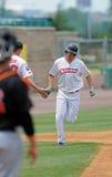 本垒打小跑-画了Macias -棒球 图库摄影