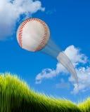 本垒打棒球 免版税库存照片