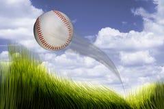 本垒打棒球 免版税库存图片