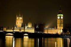 本大房子晚上议会 免版税库存照片
