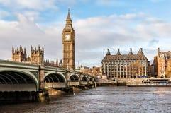 本大桥梁伦敦威斯敏斯特 免版税库存照片