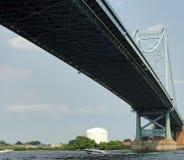 本富兰克林桥梁费城 免版税图库摄影