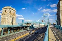本富兰克林桥梁 库存图片