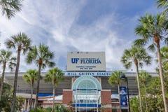 本小山佛罗里达大学的新来的人体育场 库存照片