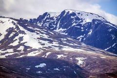 本尼维斯山范围的看法在威廉堡的苏格兰的高地的 库存照片