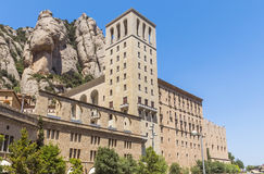 本尼迪克特的修道院圣玛丽亚de蒙特塞拉特 库存图片