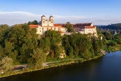 本尼迪克特的修道院在Tyniec,波兰 免版税图库摄影