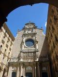 本尼迪克特的修道院,圣玛丽亚de蒙特塞拉特,巴塞罗那地区,西班牙 库存图片