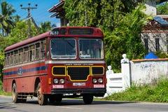 本托特,斯里兰卡- 2015年12月31日:规则公开公共汽车 Buse 库存照片