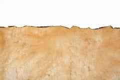 本文的老纹理与被烧的边缘的 免版税库存照片