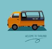 本机一个公共交通工具在泰国 库存照片