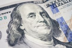 本杰明・富兰克林画象一100美元的 图库摄影