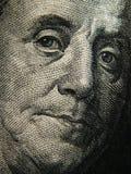 本杰明・富兰克林的画象在$ 100钞票被描述 库存图片
