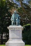本杰明・富兰克林雕塑-巴黎,法国-本杰明・富兰克林雕塑,驻法国的第一个美国大使 sculp 库存图片
