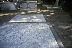 本杰明・富兰克林gravesite,费城, PA 免版税库存照片