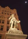 本杰明dc富兰克林雕象华盛顿 免版税图库摄影