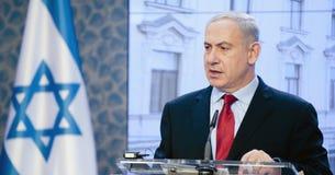 本杰明Netanjahu 库存照片