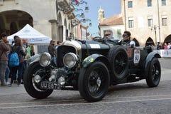 本特利4 5公升SC, 1930年在1000英里在意大利赛跑 图库摄影