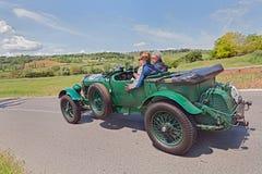 本特利6 1/2公升Tourer (1927)在Mille Miglia 2014年 库存照片