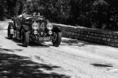 本特利4,5公升VANDEN PLAS 1928年 免版税库存照片