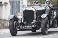 本特利4 5范de Plas开放游览车1928年 库存照片