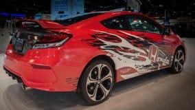 2014年本田契维奇Si Forza Motorsport设计比赛汽车 免版税图库摄影