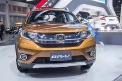 本田BR-V协定SUV在泰国显示了相互第37的曼谷 免版税库存照片