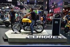 本田CB1100EX摩托车在曼谷国际泰国Moto 免版税库存照片