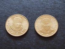 本笃十六世和弗朗索瓦一世教皇 免版税库存照片
