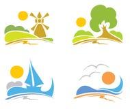 本质海运签署夏天 向量例证