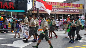 2015本年鉴印度天游行在爱迪生,新泽西 库存照片
