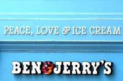 本&杰瑞的广告牌 免版税库存照片