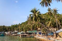 本Ngu码头, Nam Du islands,坚江省,越南 免版税库存照片