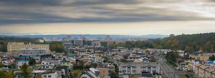 札幌乡北海道日本全景视图  免版税库存图片