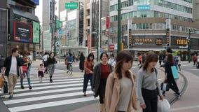 札幌北海道日本- october8,2018 :走在tanukikoji购物拱廊supporo日本的日语和游人的大数 影视素材
