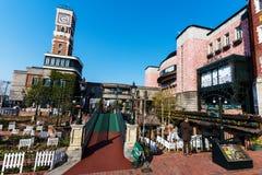 札幌机械钟楼的人们 免版税库存照片