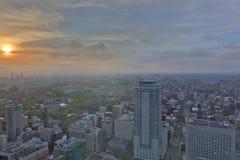 札幌,日本都市风景在中央病区里 库存照片