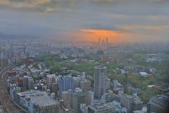 札幌,日本都市风景在中央病区里 免版税库存照片