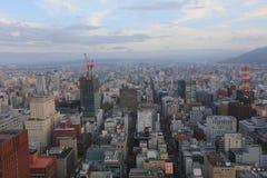 札幌,日本都市风景在中央病区里 免版税图库摄影