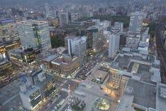 札幌,日本都市风景在中央病区里 免版税库存图片