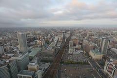 札幌,日本都市风景在中央病区里 库存图片