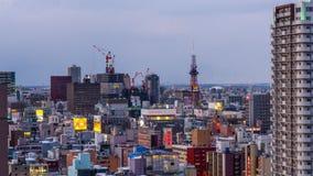 札幌,日本都市风景 股票视频