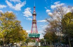 札幌,日本:2017年10月17日-在气味的札幌电视塔 图库摄影
