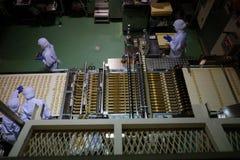 札幌,日本- 4月27 :Ishiya, 4月27日的巧克力工厂, 免版税库存图片