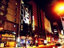 札幌-夜街道购物 图库摄影