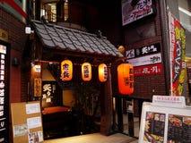 札幌-夜街道购物 免版税图库摄影
