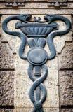 医术的人员-众神使者的手杖 库存图片