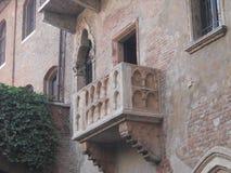 朱丽叶` s阳台在维罗纳 免版税库存图片