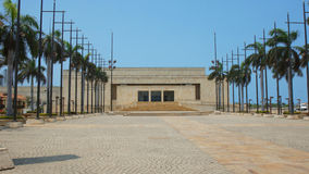 朱利奥塞萨尔省图尔瓦伊阿亚拉会议中心的正面图在市卡塔赫钠de Indias 图库摄影